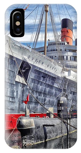 Queen Mary In Long Beach IPhone Case