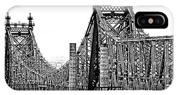 Queensborough Or 59th Street Bridge IPhone Case