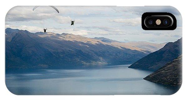 Queenstown Paragliders IPhone Case