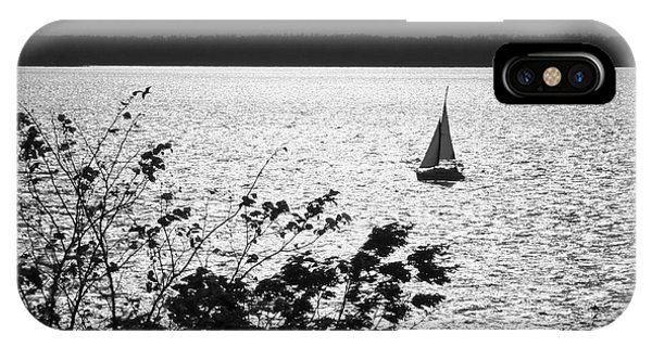 Quick Silver - Sailboat On Lake Barkley IPhone Case