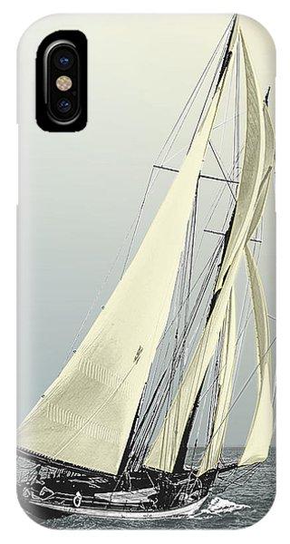 Quickstep - Schooner Yacht IPhone Case