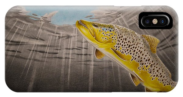 Trout iPhone Case - Quiet Anticipation by Nick Laferriere