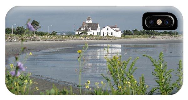 iPhone Case - Quiet Beach Nahant by Barbara McDevitt
