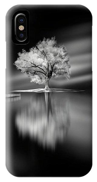 Simple Landscape iPhone Case - Quiet by David Senechal Photographie