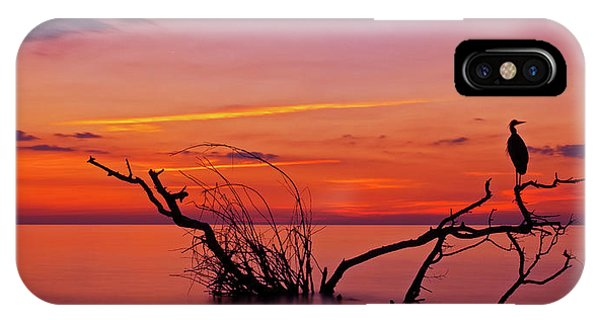 Orange Sunset iPhone Case - Quiet Evening by Verdon