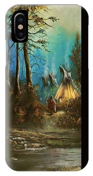 Quiet Forest With Tepees Blank IPhone Case