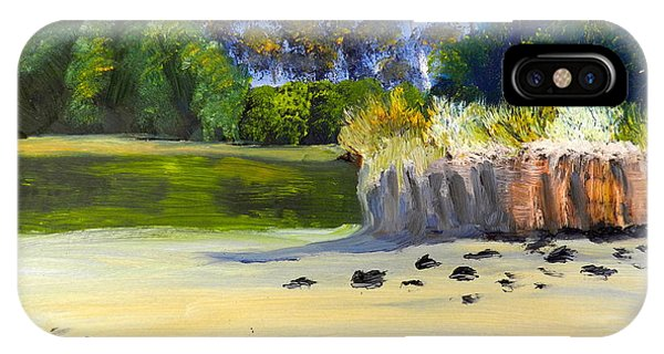 Quiet Sand By The Creek IPhone Case