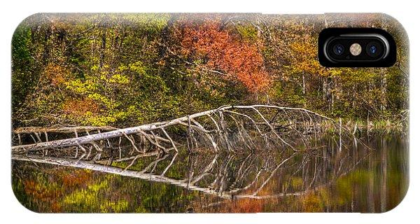 Chilhowee iPhone Case - Quiet Waters In Autumn by Debra and Dave Vanderlaan