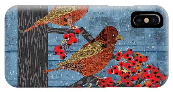 Sage Brush Sparrow In Rain IPhone Case