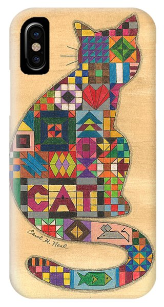 Quilted Cat IPhone Case