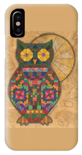 Quilted Owl IPhone Case