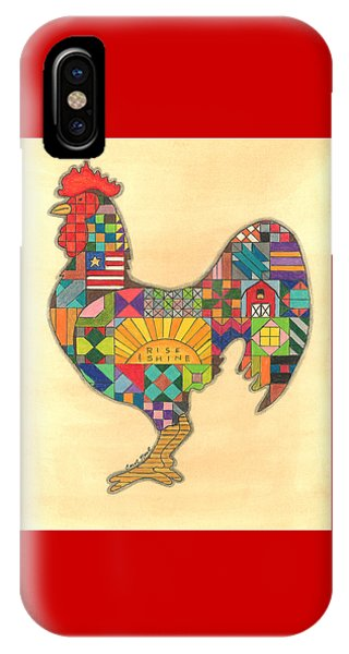 Quilted Rooster IPhone Case