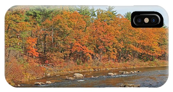 Quinapoxet River In Autumn IPhone Case