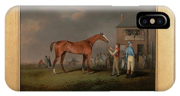 Rous iPhone Case - Quiz, After His Last Race At Newmarket Portrait Of `quiz by Litz Collection