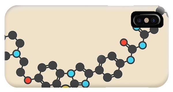 Quizartinib Drug Molecule Phone Case by Molekuul