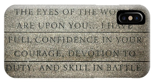 Quote Of Eisenhower In Normandy American Cemetery And Memorial IPhone Case