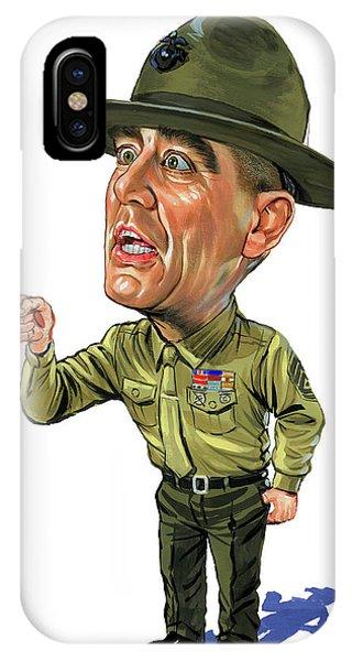 Cool iPhone Case - R. Lee Ermey As Gunnery Sergeant Hartman by Art