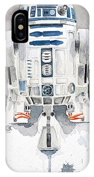 Nerd iPhone Case - R2 by David Kraig