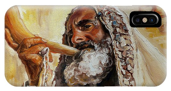 Rabbi Blowing Shofar IPhone Case