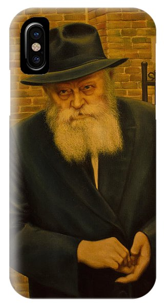 Rabbi Menachem Mendel Shneerson. Phone Case by Eduard Gurevich