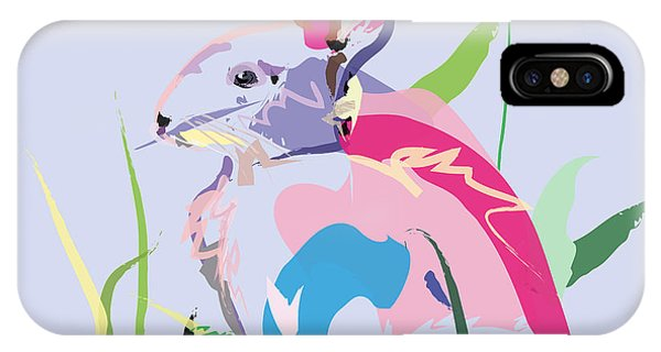 Rabbit - Bunny In Color IPhone Case