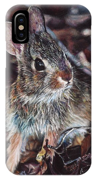 Hyper Realism iPhone Case - Rabbit In The Woods by Joshua Martin