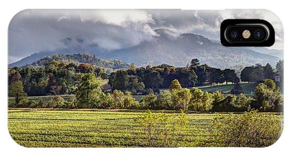 Rabun Gap Valley Pano IPhone Case