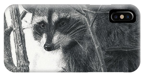 Raccoon - Charcoal Experiment IPhone Case