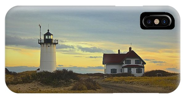 Race Point Lighthouse At Sunset IPhone Case