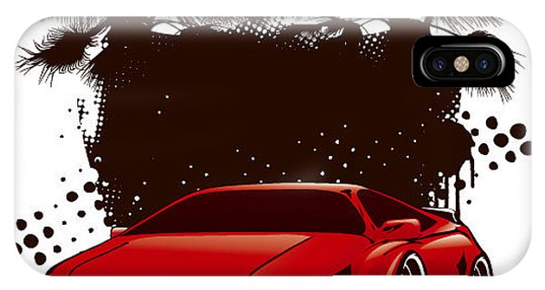 Racing Grunge Shield With Red Sport Phone Case by Locote