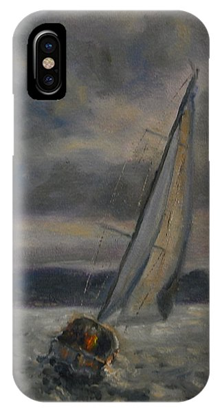Racing The Storm IPhone Case