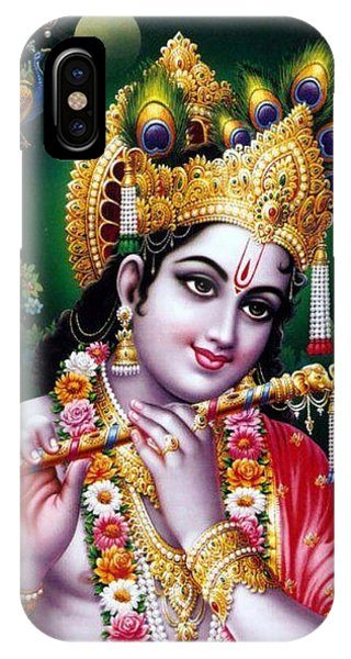 Radha Krishna Idol Hinduism Religion Religious Spiritual Yoga Meditation Deco Navinjoshi  Rights Man IPhone Case