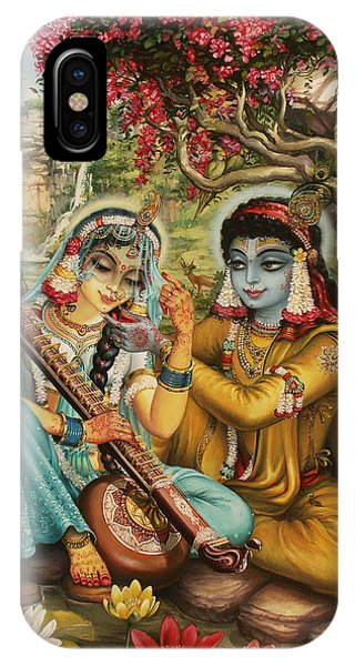 Radha Playing Vina IPhone Case
