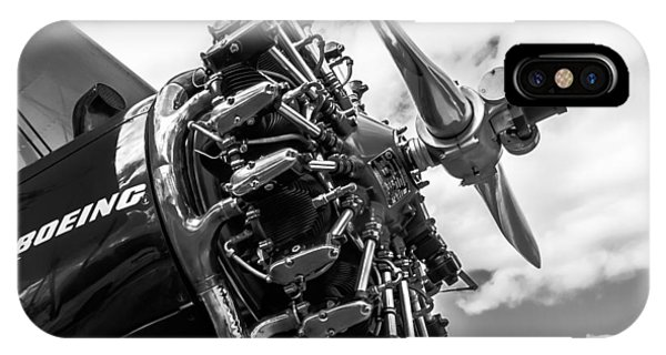 iPhone Case - Radial Engine From A Boeing Stearman by Paul Fearn