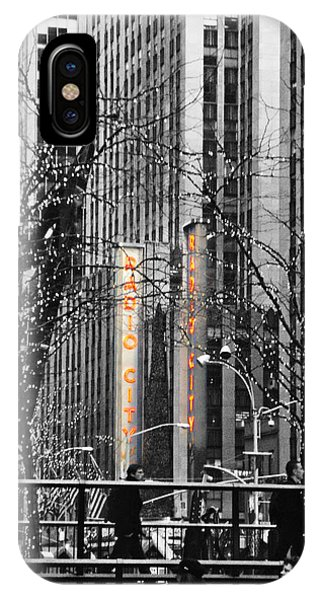 Rockettes iPhone Case - Radio City At Christmas - Black And White by Kimberly Perry