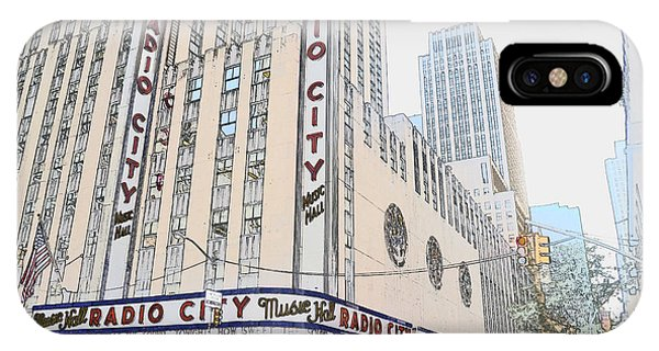 Rockettes iPhone Case - Radio City Music Hall Is Sketchy 2 by Joseph Gonzalez