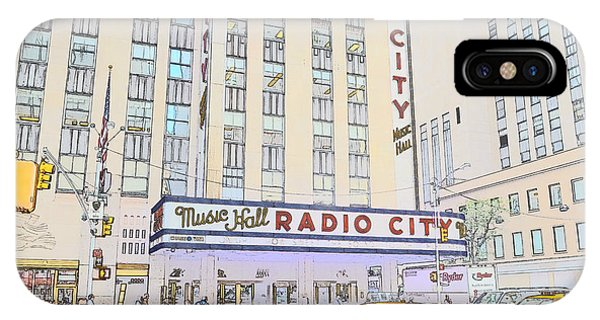 Rockettes iPhone Case - Radio City Music Hall Is Sketchy  by Joseph Gonzalez