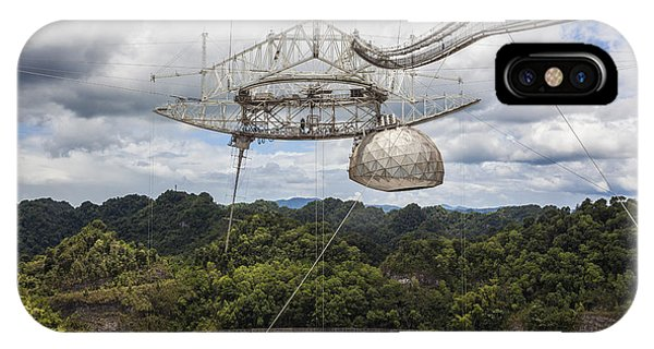 IPhone Case featuring the photograph Radio Telescope At Arecibo Observatory In Puerto Rico by Bryan Mullennix