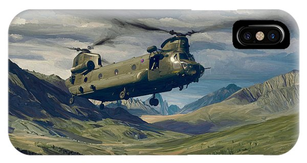 Raf Chinook Ch-47 On Exercise IPhone Case