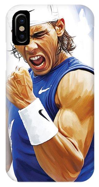 Tennis iPhone Case - Rafael Nadal Artwork by Sheraz A