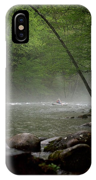 Rafting Misty River IPhone Case