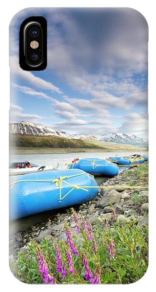 Glacier Bay iPhone Case - Rafts And Wildflowers Along The Alsek by Josh Miller Photography