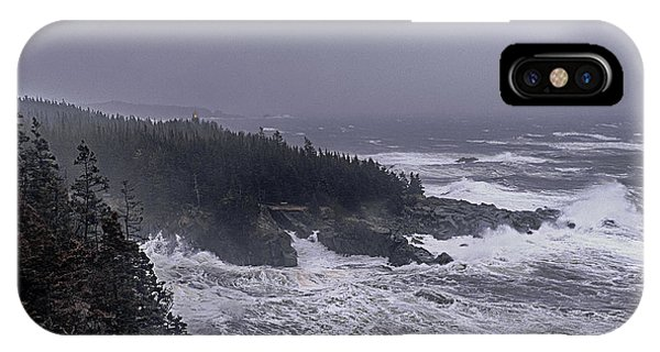 Raging Fury At Quoddy IPhone Case