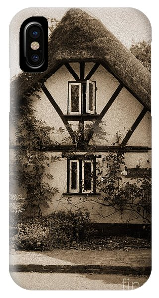 Rags Corner Cottage Nether Wallop Olde Sepia IPhone Case