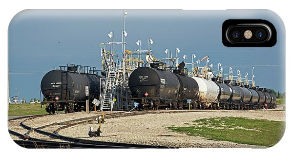 Flammable iPhone Case - Rail Cars Carrying Lpg by Jim West