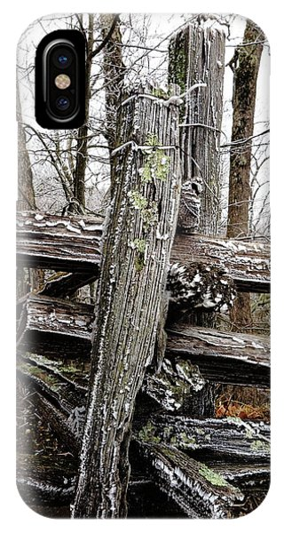 Rail Fence With Ice IPhone Case