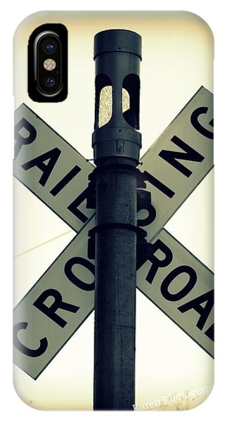 Rail Road Crossing IPhone Case