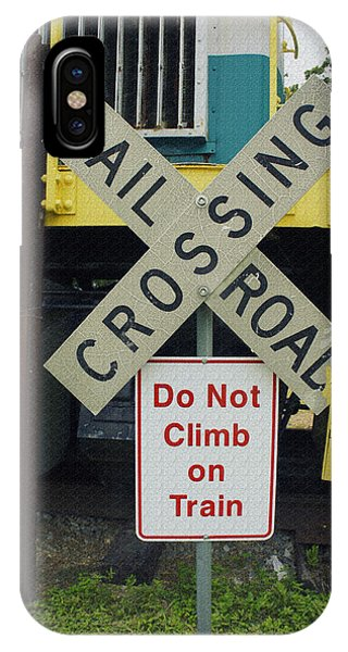 Railroad Signal iPhone Case - Rail Road Crossing by Laurie Perry