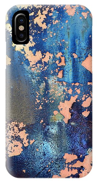 Rail Rust - Abstract - Iridescent Blue IPhone Case