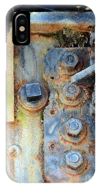Rail Rust - Abstract - Nuts And Bolts IPhone Case